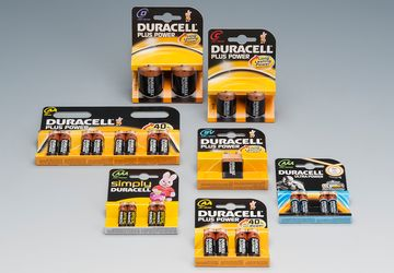 Packaging for batteries from Duracell.