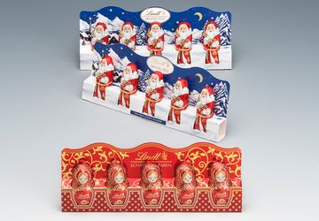 Packaging for chocolate figures by Lindt and Sprüngli